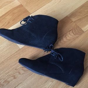 Crown vintage black heel boots